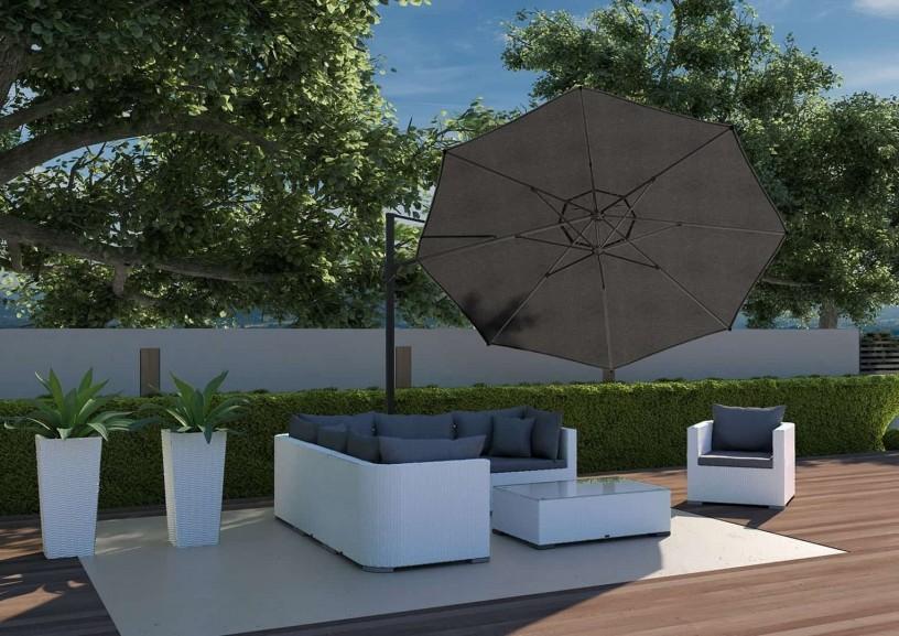 Zestaw ogrodowy z parasolem – kwintesencja lata w ogrodzie!