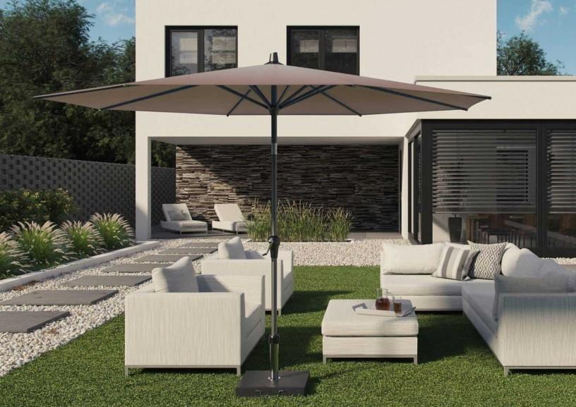Wielki parasol ogrodowy – zapewnij sobie cień w środku upalnego lata