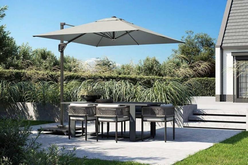 Parasol ogrodowy na wysięgniku – najlepszy towarzysz w ogrodzie