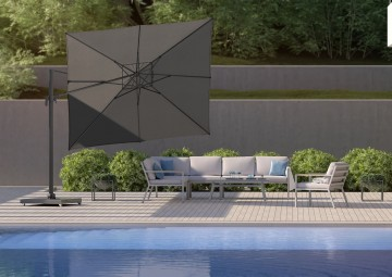 Parasol ogrodowy kwadratowy Falcon T²  2.7m x 2.7m