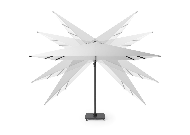 parasol ogrodowy obrotowy z ruchomą czaszą