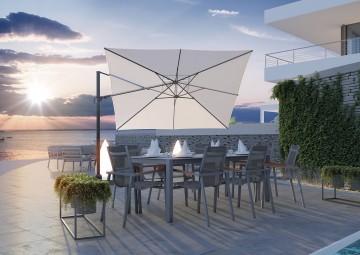 Kwadratowy parasol ogrodowy Challenger T² Premium 3m x 3m