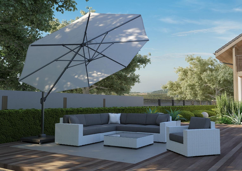 duży parasol ogrodowy z podstawą Challenger T1