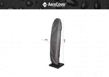 Oddychający pokrowiec ogrodowy  na parasol z nogą boczną 240x68cm