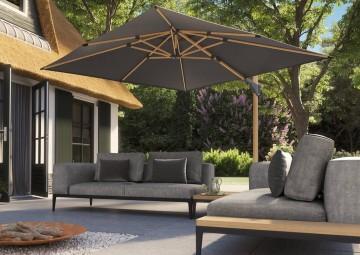 Parasol ogrodowy kwadrat Challenger T² Premium 3m x 3m Oak