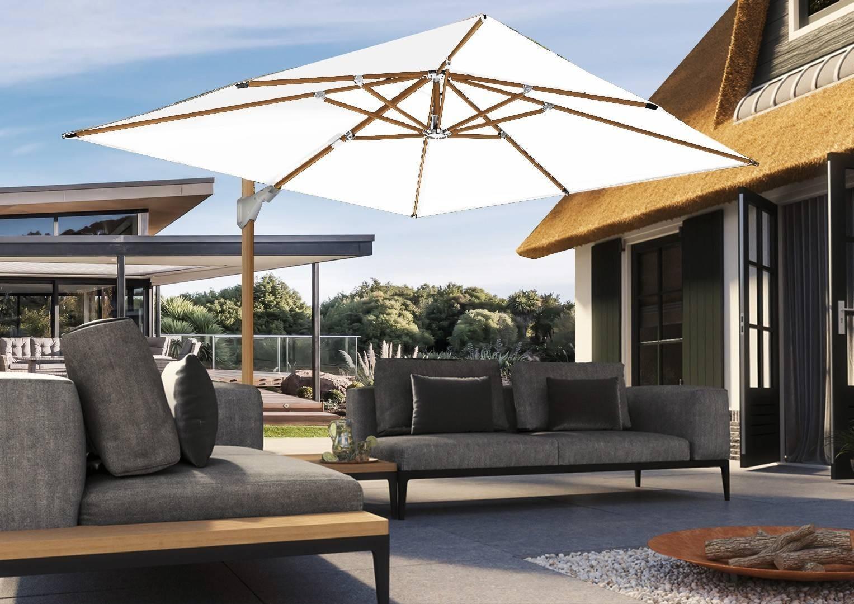 parasol rozkładany ogrodowy Challenger T² 3m x 3m Oak